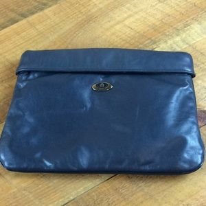 Aigner clutch handbag Blue Great condition